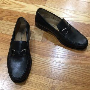 Johnston & Murphy Black Leather Loafer
